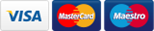 payment provider icons, visa - mastercard - maestro