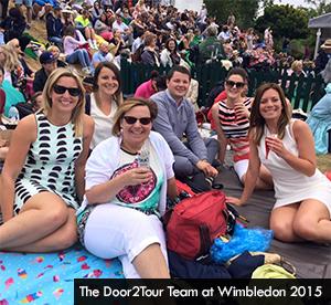 Door2Tour Team at Wimbledon