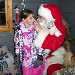 Lucia with Father Christmas