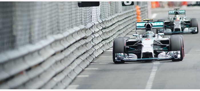 Mercedes Cars by Barrier