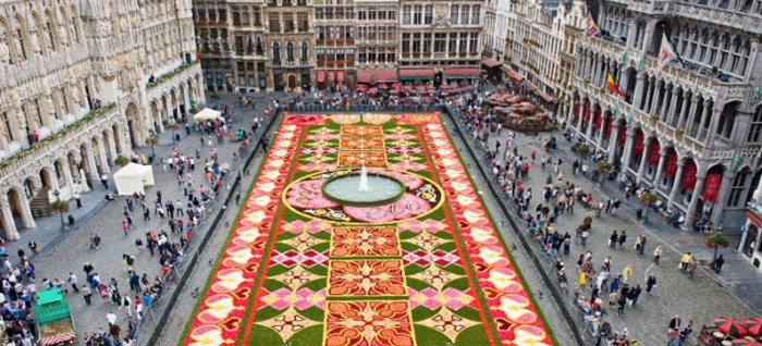 Aerial view of the Brussels Flower Carpet