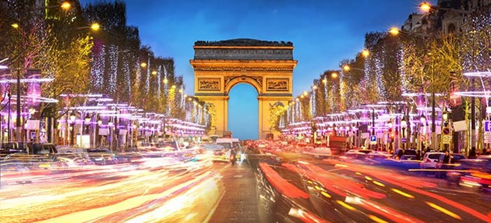 Arc de Triomphe, Paris at New Year