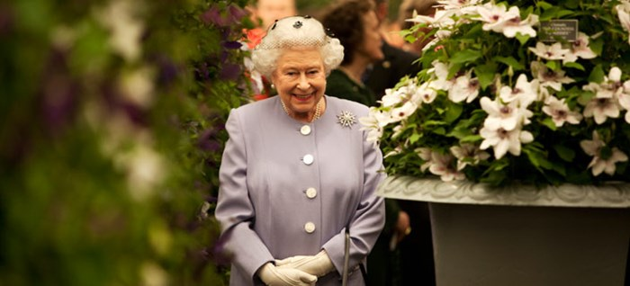 The Queen visiting the show in 2012