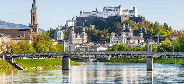Salzburg Skyline with Festung