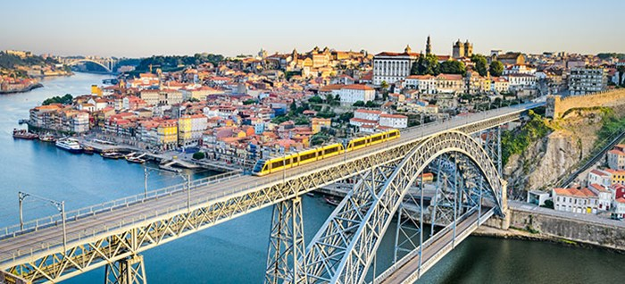 View of the historic city of Porto, Portugal