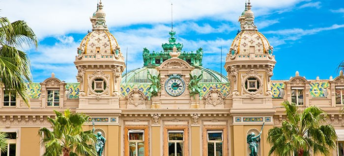 Beautiful architecture of the Grand Casino in Monte Carlo