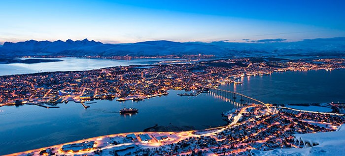 Tromso Skyline at night