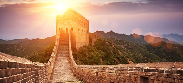 Great wall, the landmark of China and Beijing