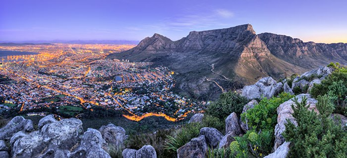 Beautiful South Africa's Cape towns mountains and sea view