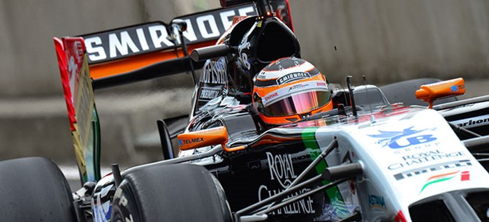 Force India Car at British Grand Prix