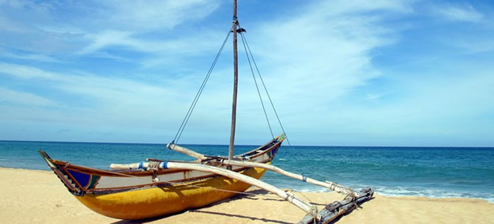 Traditional Boat on a Beach