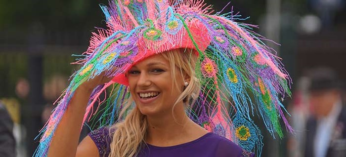 Racegoer at Ladies Day