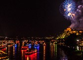 Experience the fabulous firework displays at Rhine in Flames